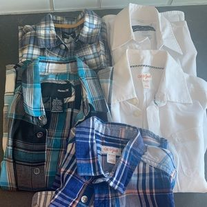 Lot of 5 Button Down Boys Shirts